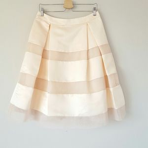 English Factory satin and tulle pleated skirt